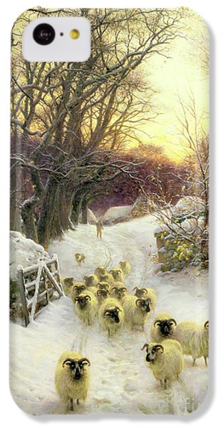 Sunset iPhone 5c Case - The Sun Had Closed The Winter's Day  by Joseph Farquharson