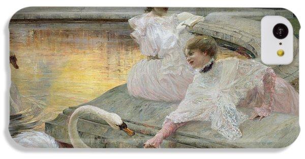 Swan iPhone 5c Case - The Swans by Joseph Marius Avy