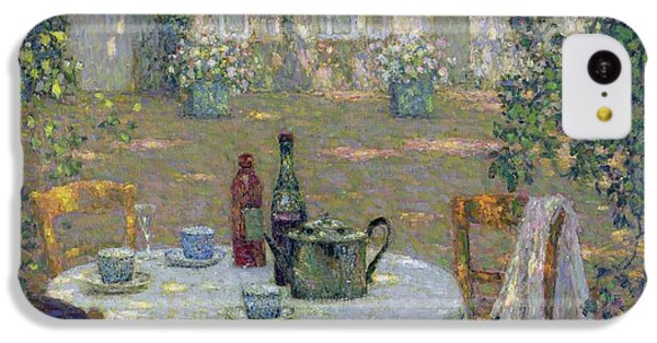 Garden iPhone 5c Case - The Table In The Sun In The Garden by Henri Le Sidaner