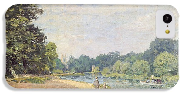 The Thames With Hampton Church IPhone 5c Case by Alfred Sisley
