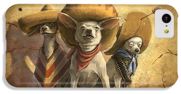 Dog iPhone 5c Case - The Three Banditos by Sean ODaniels