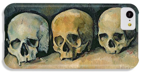 Still Life iPhone 5c Case - The Three Skulls by Paul Cezanne