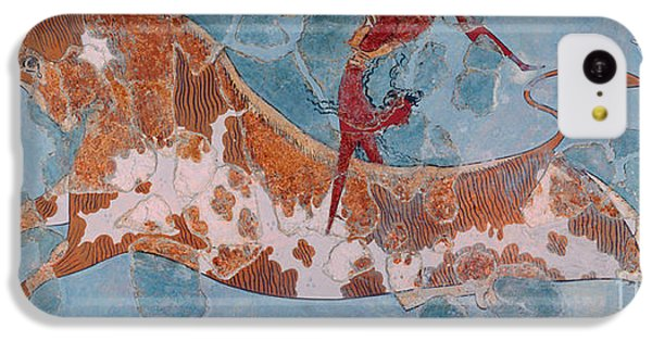 Minotaur iPhone 5c Case - The Toreador Fresco, Knossos Palace, Crete by Greek School