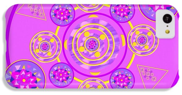 The Art Of Gandy iPhone 5c Case - The Universal Spin Of Violet by Joan Ellen Gandy