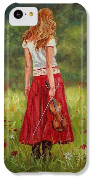 Violin iPhone 5c Case - The Violinist by David Stribbling