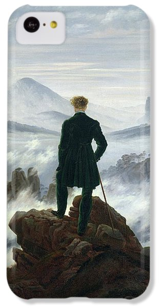 Landscapes iPhone 5c Case - The Wanderer Above The Sea Of Fog by Caspar David Friedrich