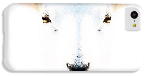 Sheep iPhone 5c Case - The White Sheep By Sharon Cummings by Sharon Cummings