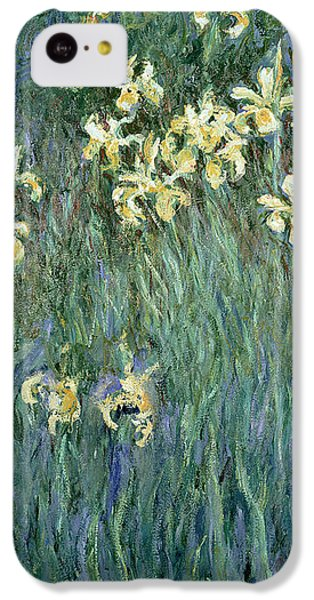 The Yellow Irises IPhone 5c Case by Claude Monet