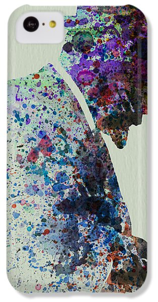 Saxophone iPhone 5c Case - Thelonious Monk Watercolor 1 by Naxart Studio