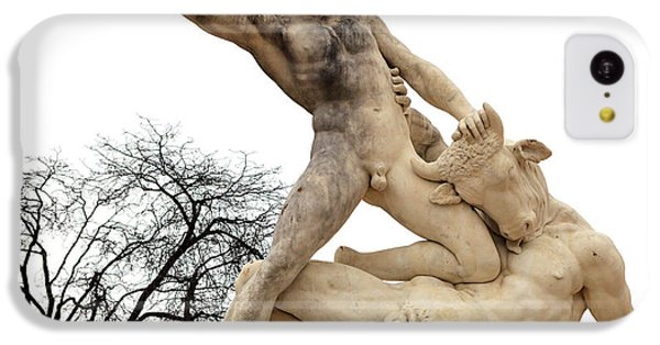 Minotaur iPhone 5c Case - Theseus And The Minotaur At Tuileries Garden Paris by John Rizzuto