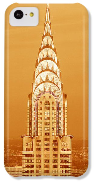 Chrysler Building At Sunset IPhone 5c Case by Panoramic Images