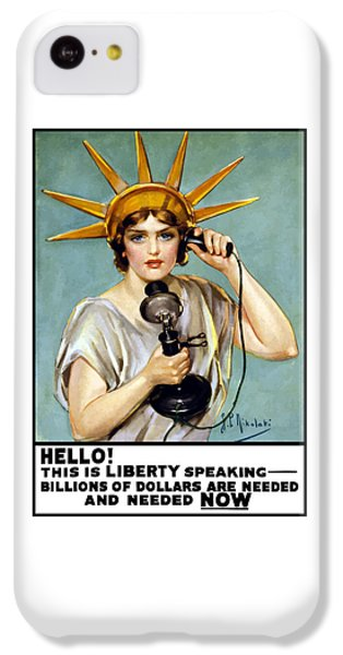 This Is Liberty Speaking - Ww1 IPhone 5c Case by War Is Hell Store