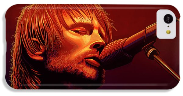Drum iPhone 5c Case - Thom Yorke Of Radiohead by Paul Meijering