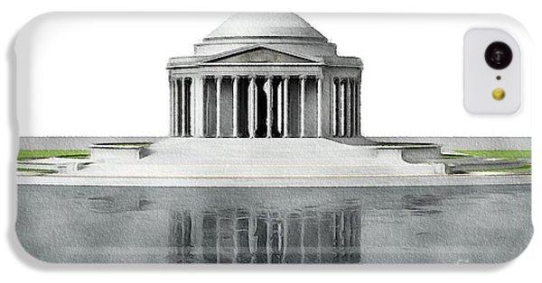 Washington Monument iPhone 5c Case - Thomas Jefferson Memorial, Washington by John Springfield