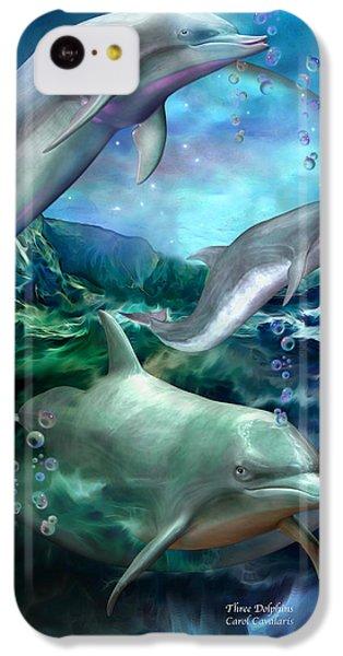 Three Dolphins IPhone 5c Case