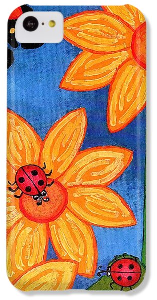 Three Ladybugs And Butterfly IPhone 5c Case