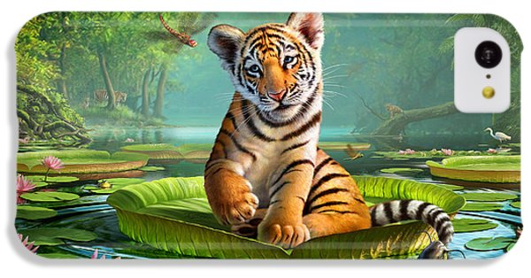 Tiger Lily IPhone 5c Case by Jerry LoFaro