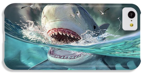 Seagull iPhone 5c Case - Tiger Sharks by Jerry LoFaro