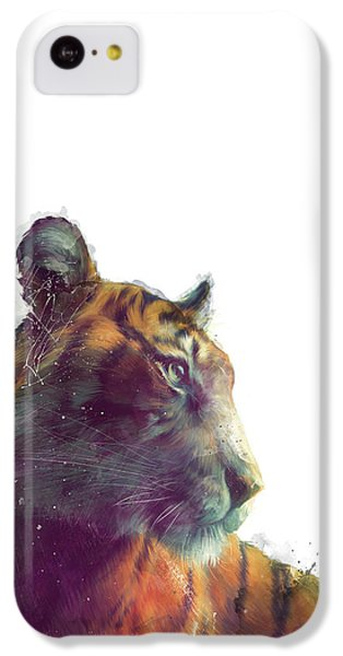 Tiger iPhone 5c Case - Tiger // Solace - White Background by Amy Hamilton