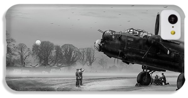 IPhone 5c Case featuring the photograph Time To Go - Lancasters On Dispersal Bw Version by Gary Eason