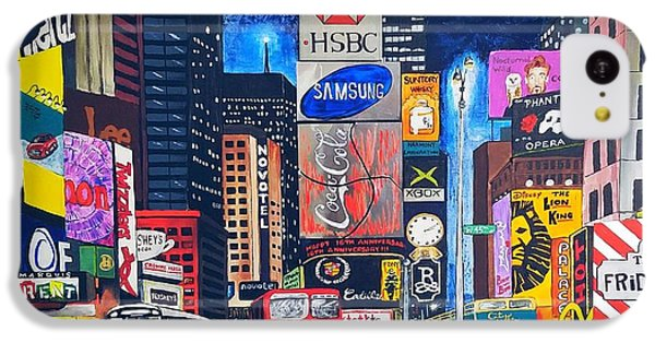 iPhone 5c Case - Times Square by Autumn Leaves Art