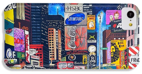 Times Square IPhone 5c Case by Autumn Leaves Art