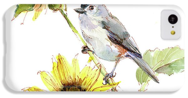 Titmouse With Sunflower IPhone 5c Case