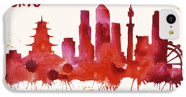 Tokyo Skyline Watercolor Poster - Cityscape Painting Artwork IPhone 5c Case