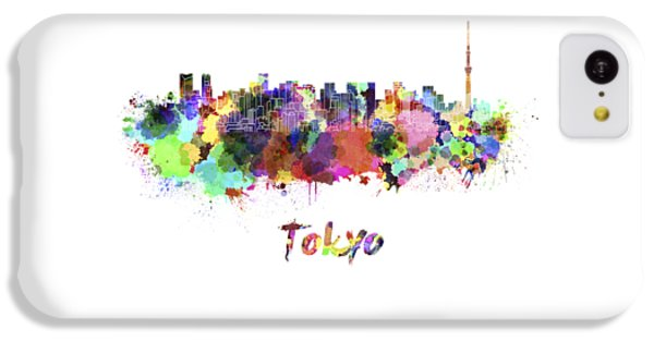Tokyo V2 Skyline In Watercolor IPhone 5c Case by Pablo Romero