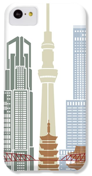 Tokyo V2 Skyline Poster IPhone 5c Case by Pablo Romero