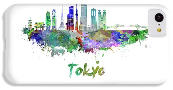 Tokyo V3 Skyline In Watercolor IPhone 5c Case