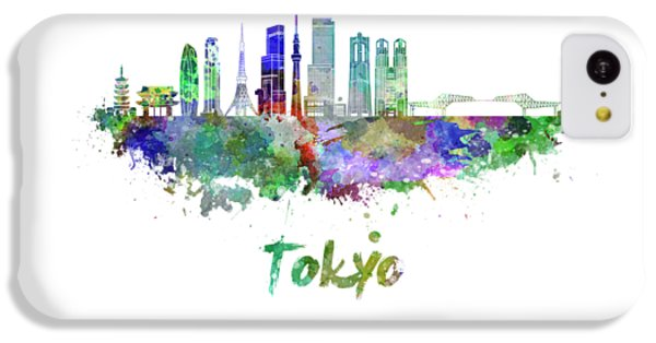 Tokyo V3 Skyline In Watercolor IPhone 5c Case by Pablo Romero