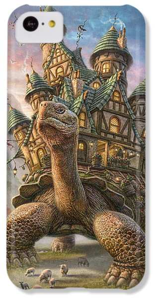 Sheep iPhone 5c Case - Tortoise House by Phil Jaeger