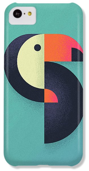 Toucan Geometric Airbrush Effect IPhone 5c Case