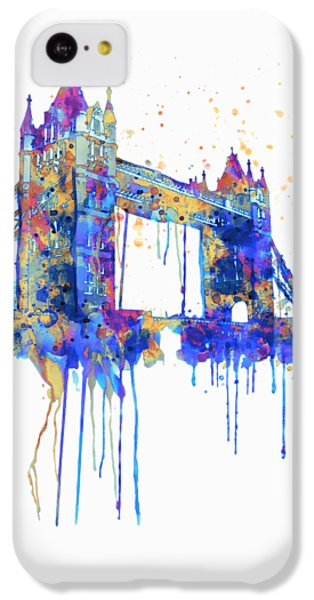 Tower Bridge Watercolor IPhone 5c Case