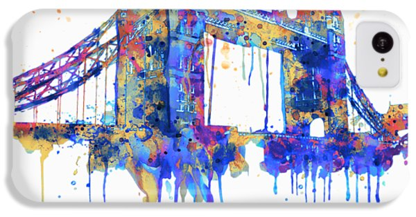 Tower Bridge Watercolor IPhone 5c Case by Marian Voicu