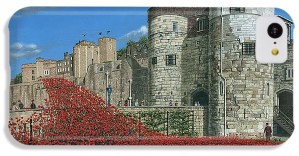 Tower Of London Poppies - Blood Swept Lands And Seas Of Red  IPhone 5c Case by Richard Harpum