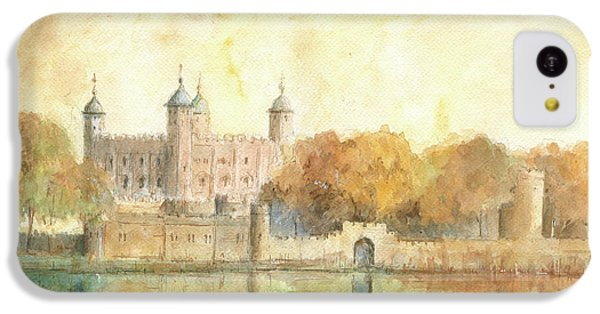Tower Of London Watercolor IPhone 5c Case by Juan Bosco