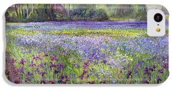 Trackway Past The Iris Field IPhone 5c Case by Timothy Easton
