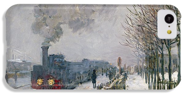 Train iPhone 5c Case - Train In The Snow Or The Locomotive by Claude Monet