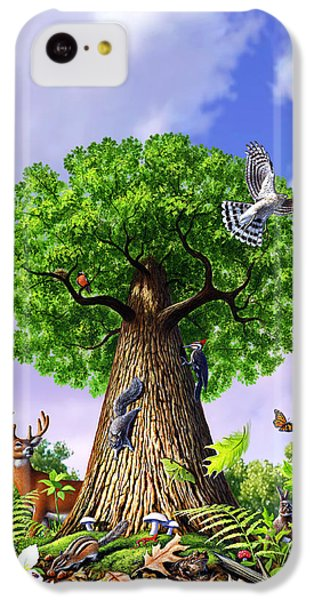 Robin iPhone 5c Case - Tree Of Life by Jerry LoFaro