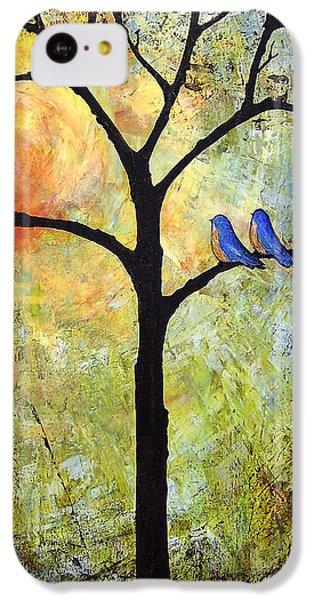 Bluebird iPhone 5c Case - Tree Painting Art - Sunshine by Blenda Studio