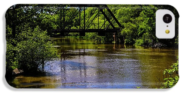 IPhone 5c Case featuring the photograph Trestle Over River by Mark Myhaver