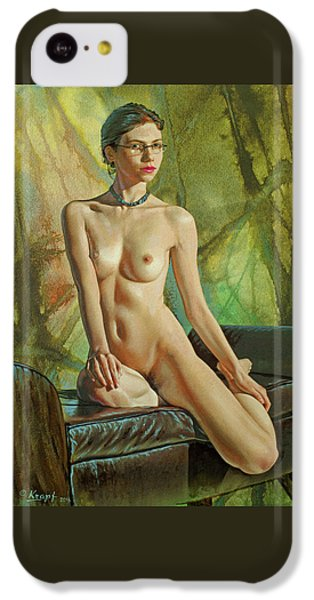 Nudes iPhone 5c Case - Trisha 235 In Abstract by Paul Krapf