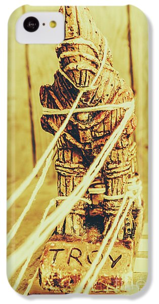 Turkey iPhone 5c Case - Trojan Horse Wooden Toy Being Pulled By Ropes by Jorgo Photography - Wall Art Gallery