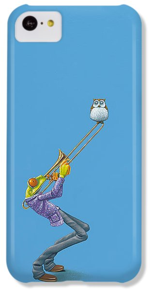 Frogs iPhone 5c Case - Trombone by Jasper Oostland