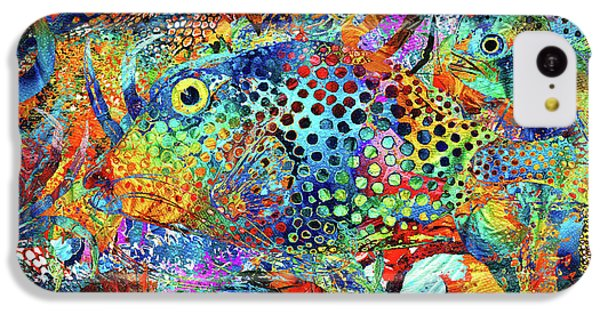 Seahorse iPhone 5c Case - Tropical Beach Art - Under The Sea - Sharon Cummings by Sharon Cummings