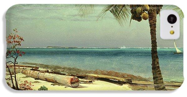 Beach iPhone 5c Case - Tropical Coast by Albert Bierstadt