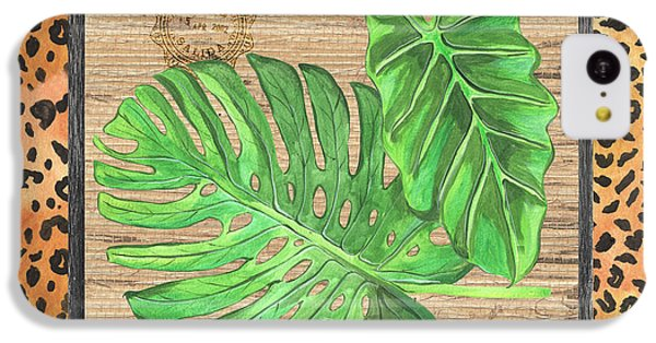 Cheetah iPhone 5c Case - Tropical Palms 2 by Debbie DeWitt