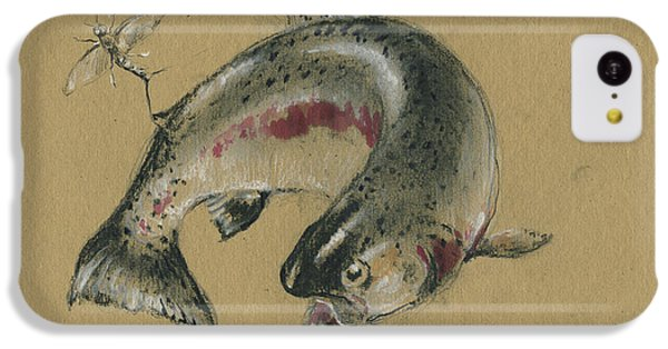 Trout iPhone 5c Case - Trout Eating by Juan Bosco